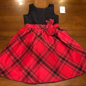 Janie and Jack Red and Black Plaid Dress.